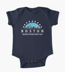 Boston Massachusetts Wicked Strong Since 1630 Kids Clothes