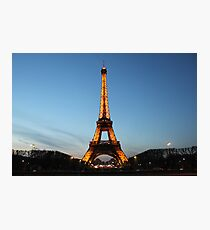 Spring Eiffel Tower at Night Photographic Print