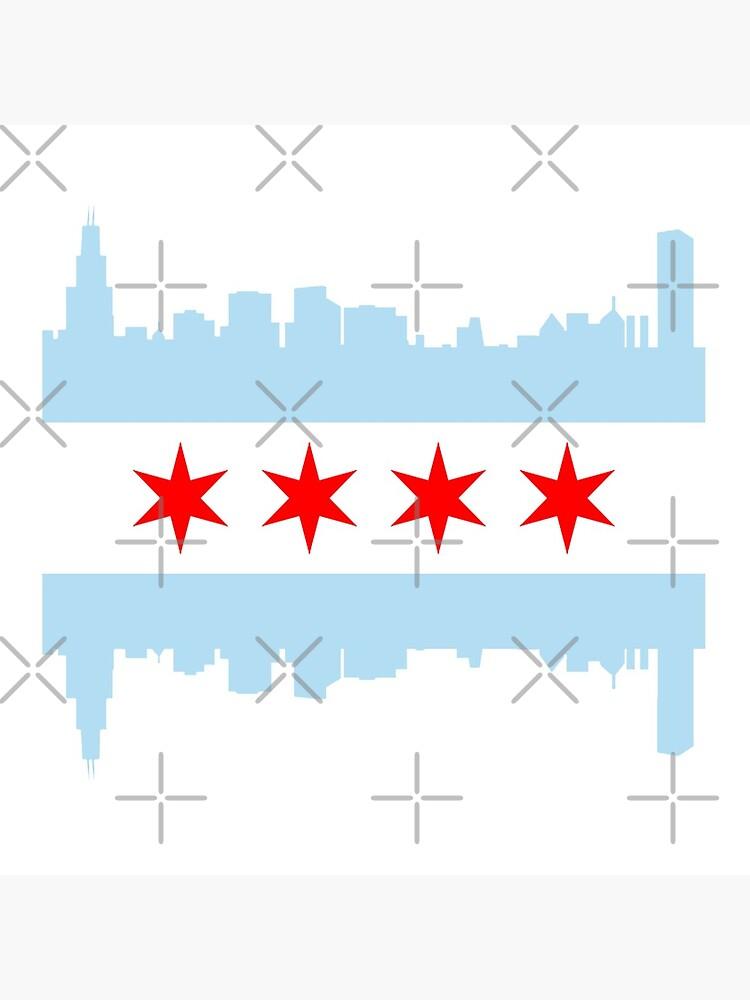 Chicago Flag Skyline by frittata