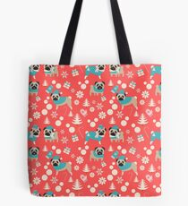 Holiday Pugs in Sweaters Tote Bag