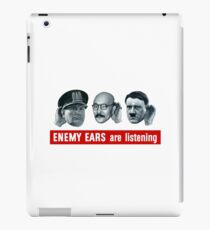 Enemy Ears Are Listening -- WWII Propaganda iPad Case/Skin