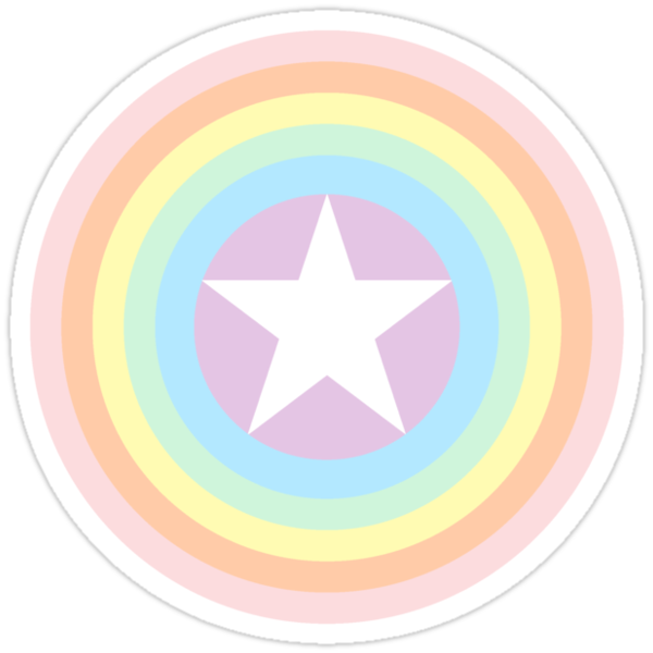Quot Pride Shield Rainbow Pastel Quot Stickers By Donegal