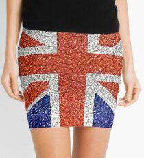England Flag Grunge  Mini Skirt