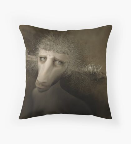 The Creature Who Sold Brushes Throw Pillow