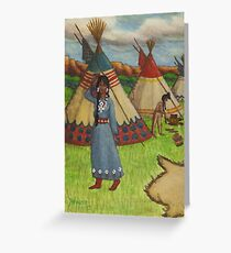 Blackfoot Indians Greeting Card