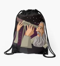 galileus watching the sky Drawstring Bag