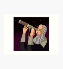 galileus watching the sky Art Print