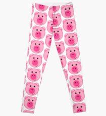 Nettes rosa Bauernhof-Schwein Leggings