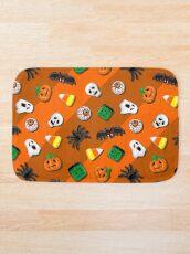 Halloween Spooky Candies Party Bath Mat