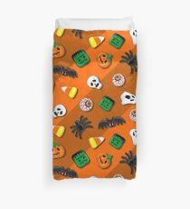 Halloween Spooky Candies Party Duvet Cover