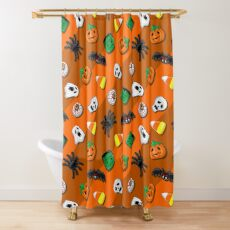 Halloween Spooky Candies Party Shower Curtain