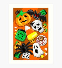 Halloween Spooky Candies Party Art Print