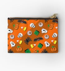 Halloween Spooky Candies Party Zipper Pouch