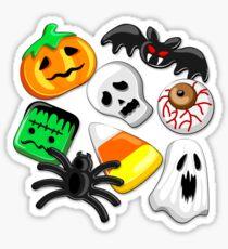 Halloween Spooky Candies Party Sticker