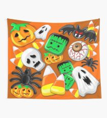 Halloween Spooky Candies Party Wall Tapestry