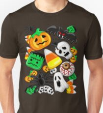 Halloween Spooky Candies Party Slim Fit T-Shirt