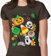 Halloween Spooky Candies Party Fitted T-Shirt