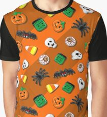Halloween Spooky Candies Party Graphic T-Shirt