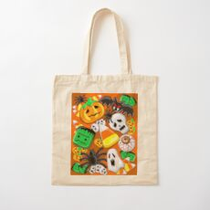 Halloween Spooky Candies Party Cotton Tote Bag