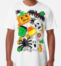 Halloween Spooky Candies Party Long T-Shirt
