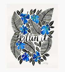 Killin' It – Tropical Blue Photographic Print