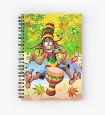 Rasta Bongo Musician funny cool character Spiral Notebook