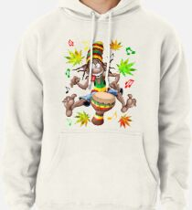 Rasta Bongo Musician funny cool character Pullover Hoodie