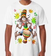 Rasta Bongo Musician funny cool character Long T-Shirt