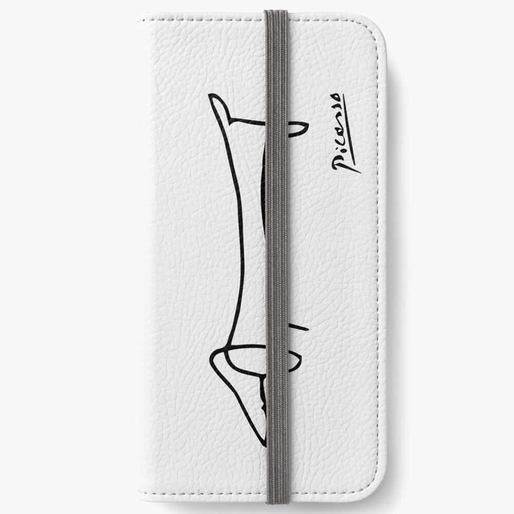 Pablo Picasso Dog (Lump) Artwork Shirt, Sketch Reproduction iPhone Wallet