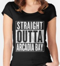 Straight Outta Arcadia Bay Women's Fitted Scoop T-Shirt