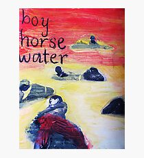 boy horse water Photographic Print