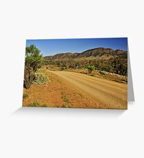 Road Through The Ranges Greeting Card
