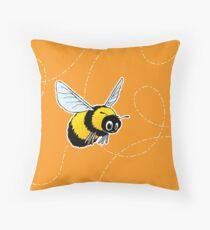 Happily Bumbling Bumble Bee Throw Pillow