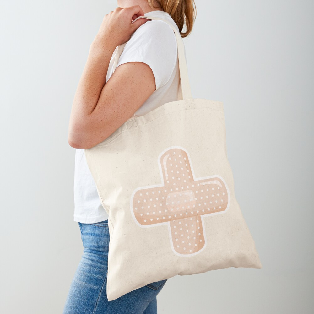 First Aid Plaster Tote Bag