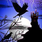 Raven's Haunted Castle by BluedarkArt