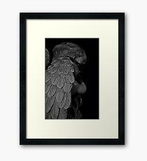 """Sleeping Angel"" (Christmas Card) Framed Print"