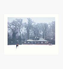 No cricket today - winter in Weybridge Art Print