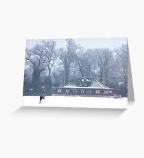 No cricket today - winter in Weybridge Greeting Card