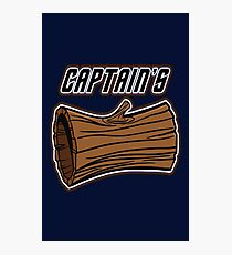 STAR TREK CAPTAINS LOG DESIGN -star trek rb partner program Photographic Print