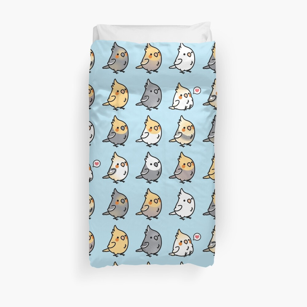 Chubby Cockatiel Collection Duvet Cover