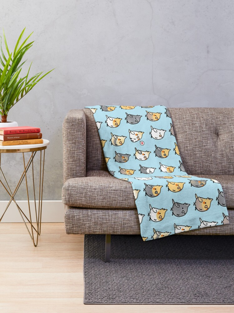 Alternate view of Chubby Cockatiel Collection Throw Blanket