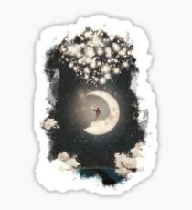 The Big Journey of the Man on the Moon Sticker