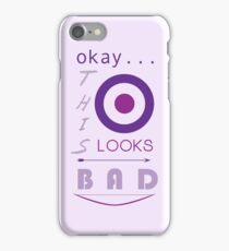 Okay... this looks bad iPhone Case/Skin