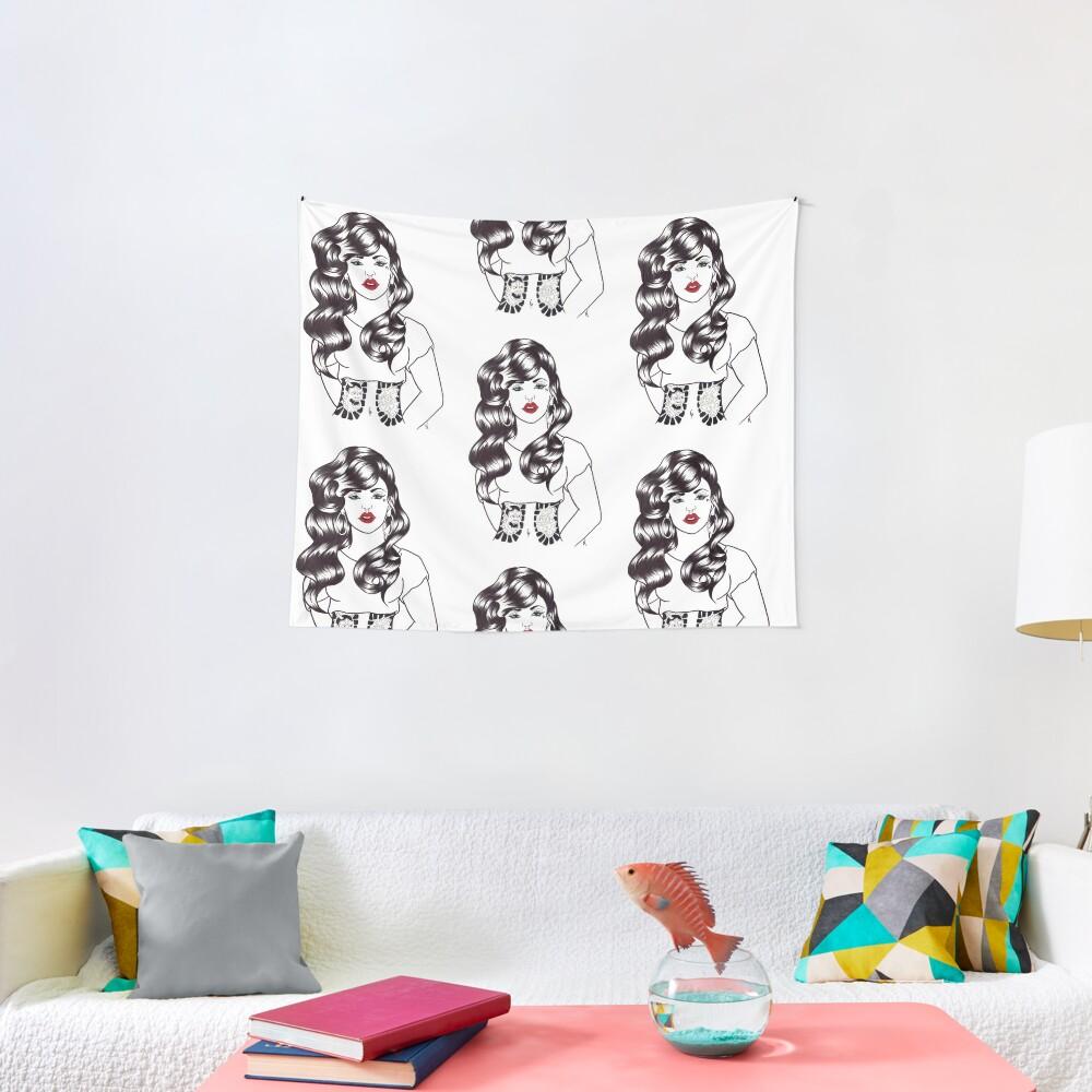 Blackwater girl - Hannya and Peony Tapestry