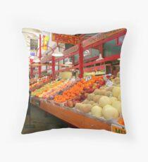 City Market Produce Throw Pillow