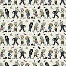 zombie walk pattern_ beige by dolokecki
