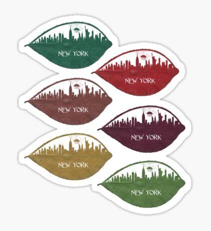New York Skyline at Sunrise Sticker