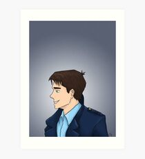 Captain Jack Harkness Profile Art Print