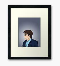 Captain Jack Harkness Profile Framed Print