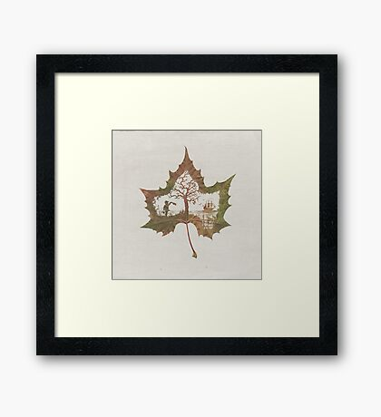 The Memories of a Leaf: Good Bye Framed Print